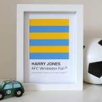 Football Framed Swatch Art